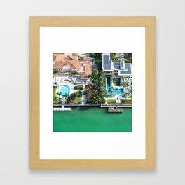 holiday villa in miami Framed Art Print