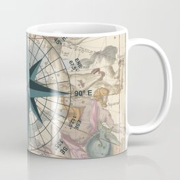Compass Graphic with an ancient Constellation Map Coffee Mug