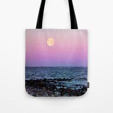 Full Moon on Blue Hour Tote Bag