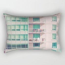 Pastel Urban Architecture Rectangular Pillow