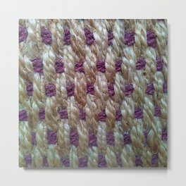 Purple Weaved Metal Print