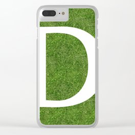 D initial letter alphabet on the grass Clear iPhone Case