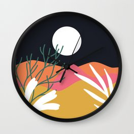 Bright Desert Night Wall Clock