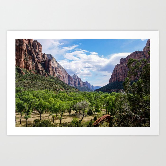 Valley cliffs 4 Art Print