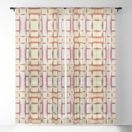 Abstract seamless pattern Sheer Curtain