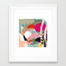 birches in garden abstract modern art Framed Art Print