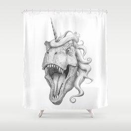 T-rexicorn Shower Curtain