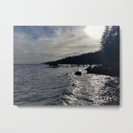 A Stormy Lake Tahoe Day Metal Print
