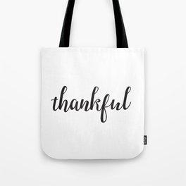 Thankful Lettering Design Tote Bag