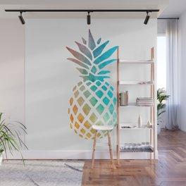 Watercolor Pineapple Wall Mural