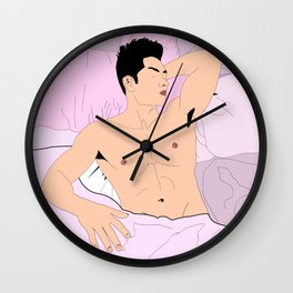 Thinkin' Bout Boys (Color) Wall Clock