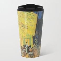 Cafe Terrace at Night by Vincent van Gogh Travel Mug