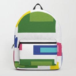 Greenery Retro Pattern Backpack