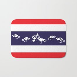 Thailand Flag, Roosters Sparring Bath Mat