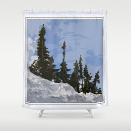 WINTER SPIRES Shower Curtain