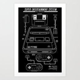 SNES PAL Art Print