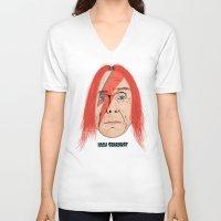 iggy V-neck T-shirts featuring Iggy Stardust by Chris Piascik