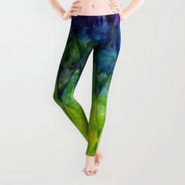 Colorful Geometric Pattern Watercolor Leggings