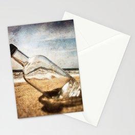 Bottle On Beach II Stationery Cards