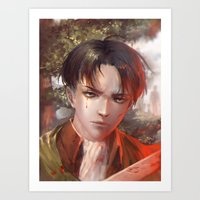 snk Art Prints featuring Levi SnK by x3uu