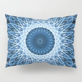 Bright blue and white mandala Pillow Sham