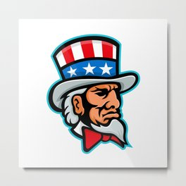 Uncle Sam Mascot Metal Print