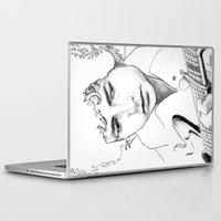 bob dylan Laptop & iPad Skins featuring BOB  DYLAN by ART FEEDS HUNGER