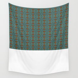 Geometric Blue Pattern Wall Tapestry