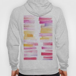 8 | 181101 Watercolour Palette Abstract Art | Lines | Stripes | Hoody