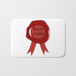 Wax Stamp Quality Assured Bath Mat