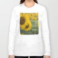 sunflowers Long Sleeve T-shirts featuring Sunflowers by Michelle Lauren Steinberg