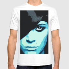 She Is Feeling A Little Blue Today MEDIUM Mens Fitted Tee White