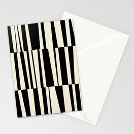 BW Oddities III - Black and White Mid Century Modern Geometric Abstract Stationery Cards