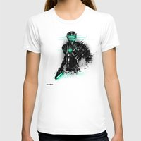 suit T-shirts featuring Omega Suit by Benedick Bana