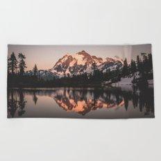 Alpenglow - Mountain Reflection Beach Towel