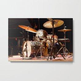 Brian Blade's vintage Grestch drumkit Metal Print