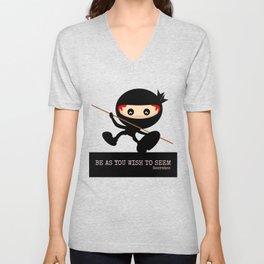 Ninja Be As You Wish To Seem Socrates Unisex V-Neck