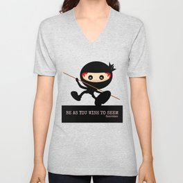 Ninja Be As You Wish To Seem Socrates Unisex V-Neck