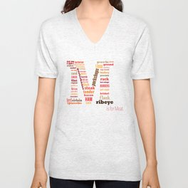 M is for Meat Unisex V-Neck
