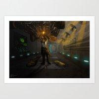 engineer Art Prints featuring Engineer. by Sandy
