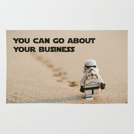 You can go about your business Rug