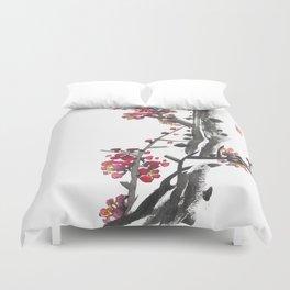Plum Blossom Two Duvet Cover