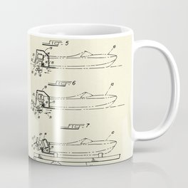 Wooden Boat  Outboard Motorboat with Inboard Mount-1972 Coffee Mug