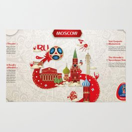 Moscow World cup 2018 Rug