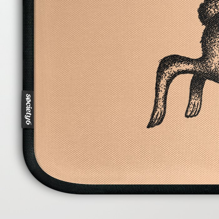 MAKE YOUR OWN LUCK (Coral) Laptop Sleeve