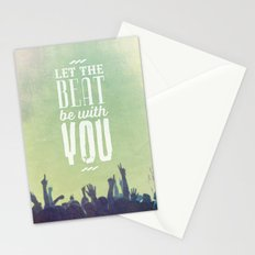Let the beat Stationery Cards