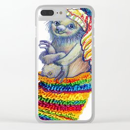 Sloth in a Sock Clear iPhone Case