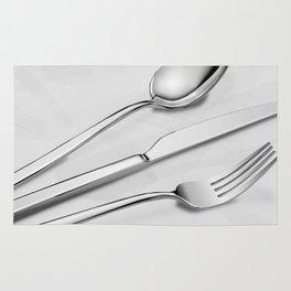Silverware - Grey Design Rug