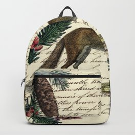 western country fairy rustic woodland nursery winter pine forest animal fox Backpack