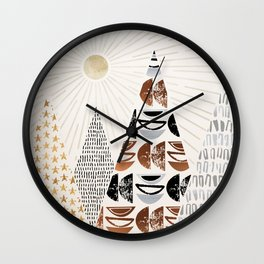 All The Magical Mountains Wall Clock